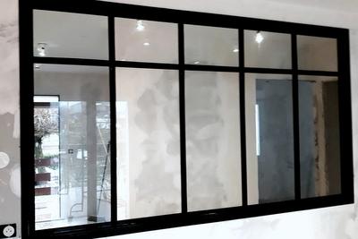 cloison-chassie vitre style atelier