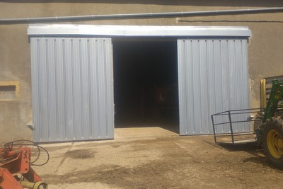 porte d'hangar coulissante 1